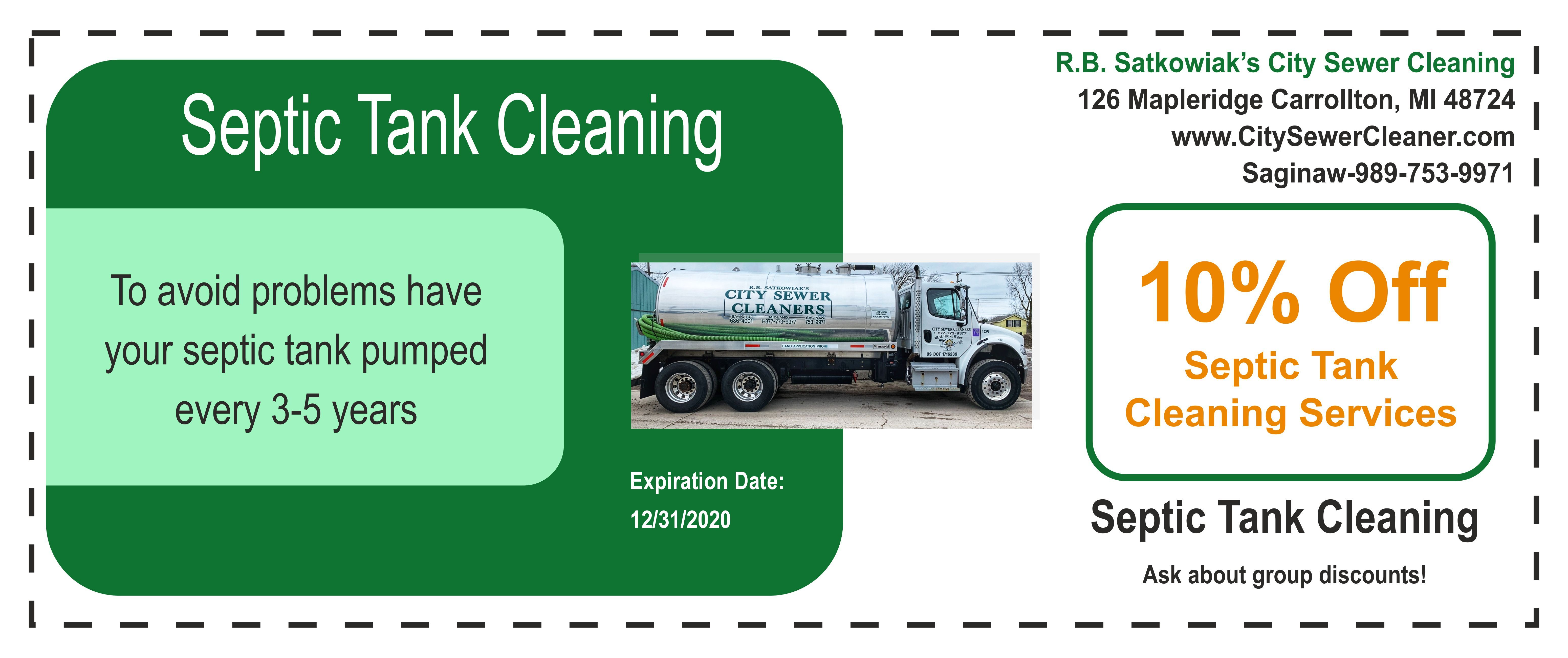 Septic Tank Cleaning Coupon